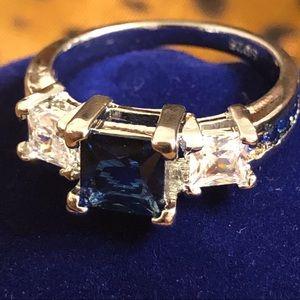 Sapphire Fashion Gemstone w/Inlay Size 7
